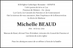 Todesanzeige Michelle BEAUD, Morges